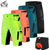 Mens Summer Baggy Cycling Shorts MTB Mountain Road Bike Loose fit Bicycle Pants