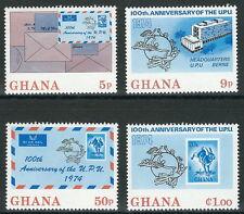 Ghana - 100 Jahre Weltpostverein (UPU) postfrisch 1974 Mi.Nr. 548-551