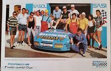 PORSCHE 944 TURBO CUP PLAKET WORLD CUP KYALAMI 1989 TEAM STRÄHLE DIN A3