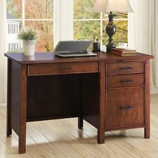 Coaster 801199 Writing Desk with File Drawer and Outlet Red Brown New