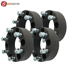 "4pc 2"" 6x5.5 Wheel Spacers 14x1.5 for GMC 2007-2017 Sierra Denali 1500 Black"