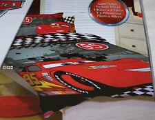 Disney Pixar Cars Lightning McQueen Grey Printed Single Bed Quilt Cover Set New