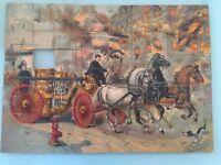 Antique McLoughlin Bros 1901 Horse Drawn Fire Engine Jigsaw Puzzle Set