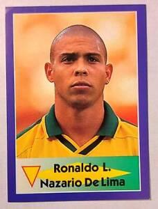 Ronaldo L.Nazario De Lima - Brazil DIAMOND World Cup 1998 - sticker RARE