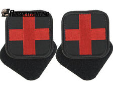 2X Military Tactical Medic Red Cross Patch First Aid Embroidered Paramedic Badge