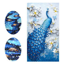Peacock Full Drill DIY 5D Diamond Painting Cross Stitch Kits Embroidery Art