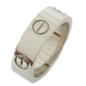 Cartier Love ring bague #10 18K 750 White Gold Used