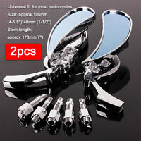 Chrome Teardrop Rear View Side Mirrors For Harley Motorcycle Cruiser Chopper US