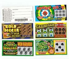 5 PHONY FAKE ALL WINNING SCRATCH OFF  LOTTERY TICKETS -JOKE- PRANK- GAG GIFT