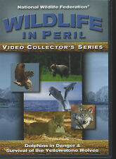 WILDLIFE IN PERIL Dolphins in Danger & Yellowstone Wolves (DVD 2005) - VERY GOOD