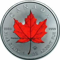 2020 Canada Maple Leaf Red - 1 Ounce Silver Colorized Series!