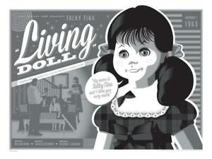 """The Twilight Zone Living Doll Limited Poster Screen Print Art 18"""" x 24"""""""
