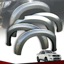 FENDER FLARES FLARE WITH NUT GREY FIT FOR TOYOTA HILUX VIGO CHAMP MK7 2012 13 14