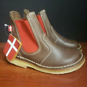 Duckfeet USA Roskilde Chelsea Slip On Waterproof Boot Cocoa Red Size 35 Shoes