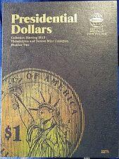 Whitman Presidential Dollars #2 2012- 2017 Coin Folder, Album Book # 2276