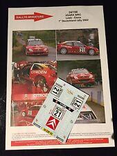 DECALS 1/24 CITROEN XSARA WRC LOEB RALLYE ALLEMAGNE DEUTSCHLAND 2002 RALLY SPARK