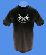 Männer Herren T-Shirt bedruckt Tattooguns Tätowiermaschinen S schwarz move2b