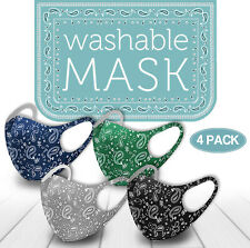 4PK New Colors! Face Mask Paisley Reusable Washable Protection Cover Breathable