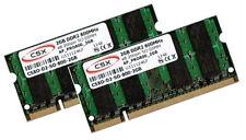 2x 2GB 4GB RAM 800 Mhz DDR2 MSI Notebook GX400 Speicher SO-DIMM