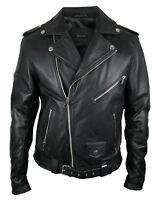 DIESEL Leder-Jacke | schwarz SIZE XXL kräftiges weiches Ziegenleder | Lederjacke