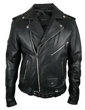 DIESEL Leder-Jacke | schwarz SIZE XL kräftiges weiches Ziegenleder | Lederjacke