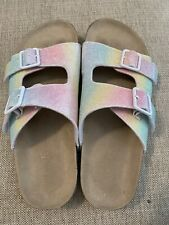 Girls Youth Children's Place Tie Dye Sandals Size 4 Euc