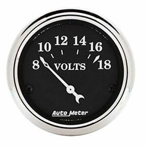 Auto Meter 2-1/16 O/T/B Voltmeter Gauge