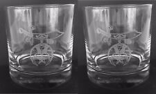 "Shrine  ""On the Rocks"" 10 oz. glasses (Set of 2) Great gift idea"