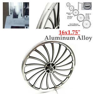 "16x1.75"" Aluminum Bicycle Front/Rear Wheel For 78mm/88mm  Bike Chopper W/Thread"