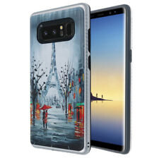 For Samsung Galaxy NOTE 8 - 3D Silver Paris Hybrid Rubber Protector Skin Case