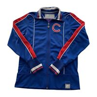 Nike Chicago Cubs Cooperstown MLB Blue Full Zip Baseball Track Jacket Mens Small