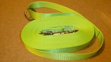 Dog Training Lead/Line, 25mm wide  Hi Viz Flo Green Polyester Webbing, 10 metres