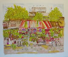 "Susan Pear Meisel ""Fruit Market"" signed and numbered lithograph"