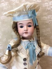 Antique Bisque German Child Doll Nautical Outfit
