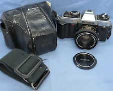Vintage Konica FT-1 Motor SLR Camera w/ Hexanon 50mm f1.8 Lens & Carrying Case