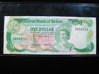 BELIZE $1 DOLLAR 1983 P43 BRITISH QUEEN 34# CURRENCY BANKNOTE PAPER MONEY