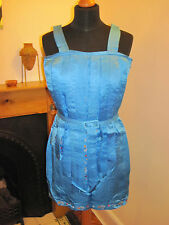 Laura Lees Mainline Nastro Vestito £ 160 XS 6 8 SILK NUOVO 1920 S Flapper Royal Blue