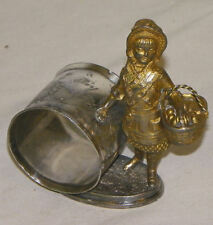 Little Red Riding Hood Figural Reed & Barton Antique Napkin Ring Holder