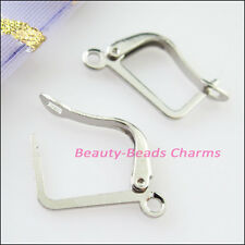 12Pcs Square French Earring Hooks 12x20mm Gold Dull Silver Bronze Plated