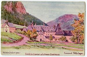 CPA 38 Isère Monastère Grande Chartreuse Entrée du Couvent Illustration
