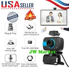 HD Webcam USB Computer Web Camera For PC Laptop Desktop Video Cam W/ Microphone