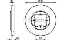 BOSCH Juego de 2 discos freno 260mm ventilado HONDA ACCORD ROVER 0 986 478 568