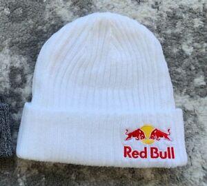 RED BULL ATHLETE ONLY BEANIE- WHITE - WINTER - RARE - HAT