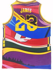 Medium James Los Angeles Miami Cleveland Basketball Jersey Men Stitched