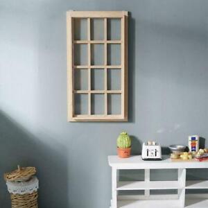 New 1:12 Dollhouse 12-pane Wooden Window Frame Miniature Doll Houses New C8V7