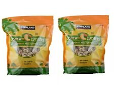 Two 32 Oz Bags Kirkland Signature Cashew Clusters with Almonds and Pumpkin Seeds