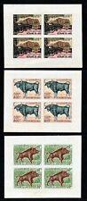 Laos 1970 Wild Animals 3 imperf proof sheetlets Leopard Guar Wild Boar
