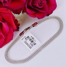 SOLID 925 STERLING SILVER RHODIUM PLATED CHAIN BALL BRACELET  LENGTH 19cm