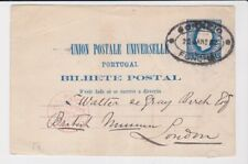 Portugal Stamps 1883 Postcard To London Via Packet Mail Liverpool Postal History