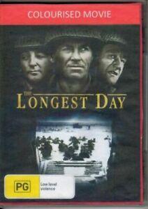 The Longest Day DVD John Wayne Colourised New and Sealed Australian Release